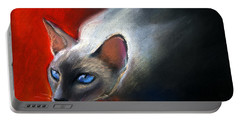 Siamese Cat 7 Painting Portable Battery Charger