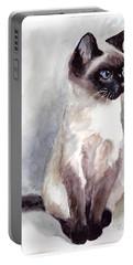 Siamese Kitten Portrait Portable Battery Charger