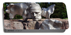 Portable Battery Charger featuring the photograph Sibelius Monument And Bust by Harvey Barrison