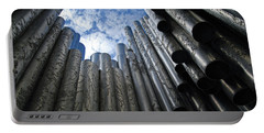 Portable Battery Charger featuring the photograph Sibelius Monument  by Harvey Barrison