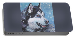 Siberian Husky Portable Battery Charger