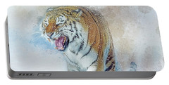 Siberian Tiger In Snow Portable Battery Charger by Brian Tarr