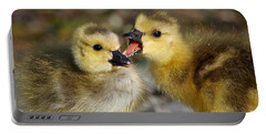 Sibling Love - Baby Canada Geese Portable Battery Charger