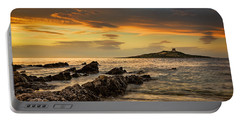 Sicilian Sunset Isola Delle Femmine Portable Battery Charger by Ian Good