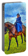 Portable Battery Charger featuring the photograph Side Saddle by Scott Carruthers
