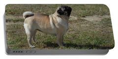 Side View Of A Pug Dog Portable Battery Charger by DejaVu Designs