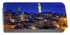 Portable Battery Charger featuring the photograph Siena At Night by Fabrizio Troiani