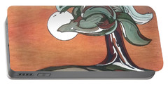 Portable Battery Charger featuring the painting Sienna Skies by Pat Purdy