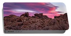 Sierra Clouds At Sunset Portable Battery Charger