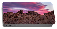 Portable Battery Charger featuring the photograph Sierra Clouds At Sunset by John Hight