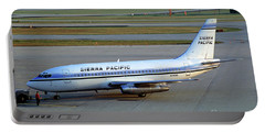 Sierra Pacific Airlines Boeing 737, N703s Portable Battery Charger by Wernher Krutein