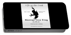 Sierran Tree Frog - Black Graphics Portable Battery Charger