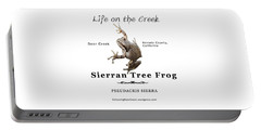 Sierran Tree Frog - Photo Frog, Black Text Portable Battery Charger
