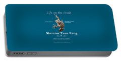 Sierran Tree Frog - Photo Frog, White Text Portable Battery Charger