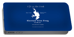 Sierran Tree Frog - White Graphic, White Text Portable Battery Charger