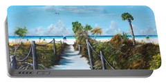 Siesta Beach Access Portable Battery Charger by Lloyd Dobson
