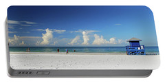 Portable Battery Charger featuring the photograph Siesta Key Life Guard Shack by Gary Wonning