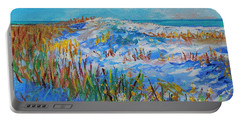 Siesta Key Sand Dune Portable Battery Charger by Lou Ann Bagnall