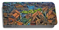 Sighisoara From Above Portable Battery Charger by Jeff Kolker