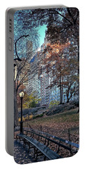 Portable Battery Charger featuring the photograph Sights In New York City - Central Park by Walt Foegelle