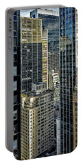 Portable Battery Charger featuring the photograph Sights In New York City - Skyscrapers Shot From Skyscraper by Walt Foegelle