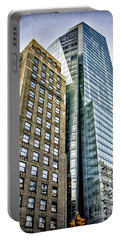 Portable Battery Charger featuring the photograph Sights In New York City - Skyscrapers by Walt Foegelle