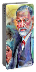 Sigmund Freud Painting Portable Battery Charger
