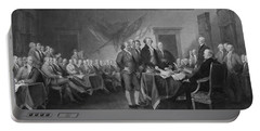 Signing The Declaration Of Independence Portable Battery Charger by War Is Hell Store
