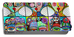 Silberzweig Day Of The Dead Rainbow Angels Portable Battery Charger