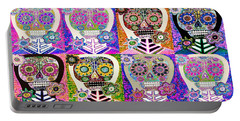 Silberzweig -dia De Los Muertos Prism Sugar Skulls Portable Battery Charger