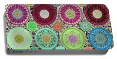 Silberzweig - Karma Mandela - Celadon Rose - Portable Battery Charger by Sandra Silberzweig