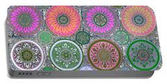 Silberzweig - Karma Mandela - Coral Jade - Portable Battery Charger by Sandra Silberzweig