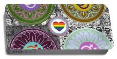 Silberzweig - Karma Mandela - Pride Male - Jade Portable Battery Charger by Sandra Silberzweig