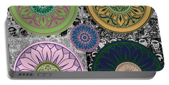 Silberzweig - Karma Mandela - Rose Jade - Portable Battery Charger by Sandra Silberzweig