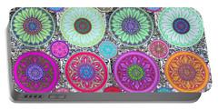 Silberzweig - Karma Mandela - Ruby Violet - Portable Battery Charger by Sandra Silberzweig