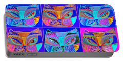Silberzweig  Modern Art Midnight Jazz Cat Portable Battery Charger