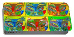 Silberzweig  Modern Art Summer Beach Cat Portable Battery Charger