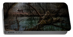 Portable Battery Charger featuring the digital art Silent Forest by Chris Armytage