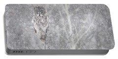 Silent Snowfall Landscape Portable Battery Charger by Everet Regal
