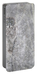 Silent Snowfall Portrait Portable Battery Charger