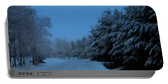 Portable Battery Charger featuring the photograph Silent Winter Night  by David Dehner