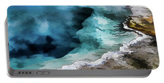 Silex Hot Springs   Impressionism Portable Battery Charger