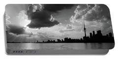 Silhouette Cn Tower Portable Battery Charger by Nick Mares