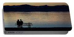 Silhouette Sunset Serenity Portable Battery Charger