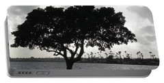 Silhouette Of Tree Portable Battery Charger
