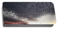 Silhouette Of Uluru At Sunset Portable Battery Charger