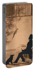Silhouette Profile Of Artist Charles Fenderich, 1841 Portable Battery Charger
