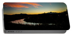 Silhouette Sunset Portable Battery Charger