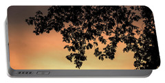 Silhouette Tree In The Dawn Sky Portable Battery Charger