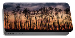 Silhouetted Sunset Portable Battery Charger
